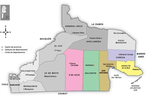 Mapa Distrito Valle Inferior y Zona Atlántica