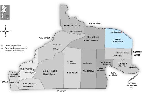 Mapa Distrito Río Colorado
